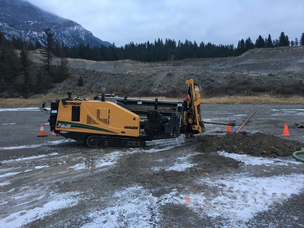Horizontal Directional Drilling and jetting fibre